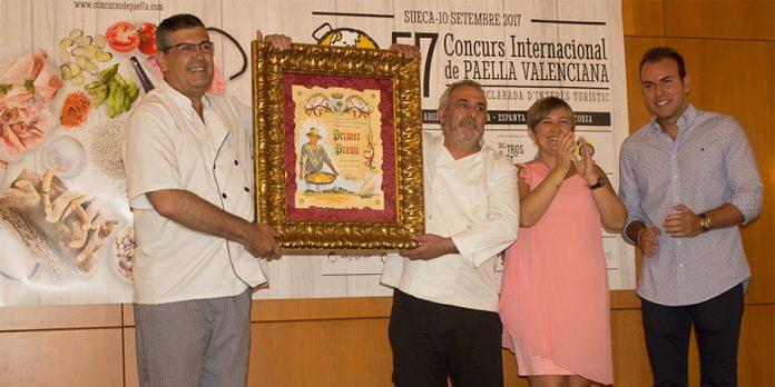 El Asador Altamira ganador del Concurso Internacional de Paellas de Sueca 2017