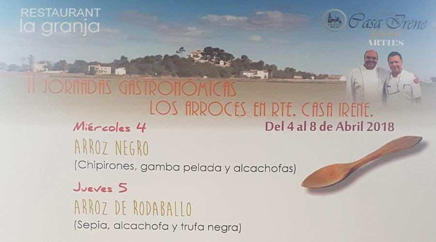 Jornadas del Arroz en Casa Irene de Adolfo Cuquerella